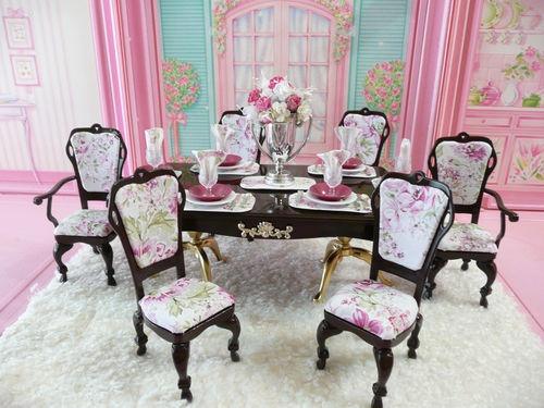 OOAK Barbie Dining Room Diorama Doll Play In The  : ec56e69120c2c44bc9b96464d2e36ede from pinterest.com size 500 x 375 jpeg 85kB
