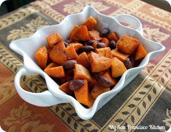 Roasted Cinnamon Almond Sweet Potatoes | My San Francisco Kitchen
