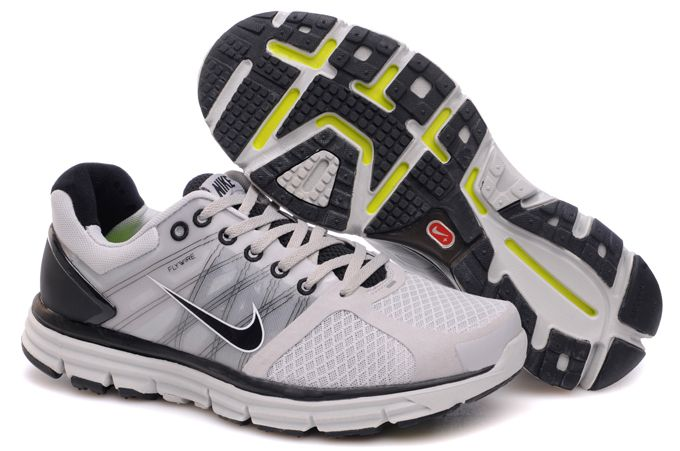 Mens Nike Lunarglide 2 Gray Black Shoes