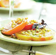Grilled Corn & Tomato Salad with Basil Oil | Recipe