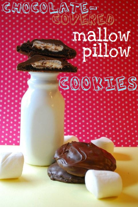 Chocolate-Covered Mallow Pillow Cookies | straight to my hips | Pinte ...