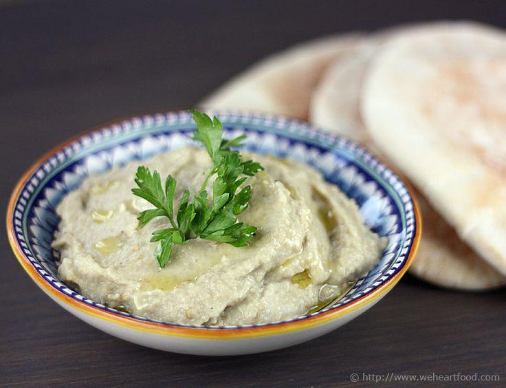 Baba ghanoush. Smokey, creamy eggplant dip.
