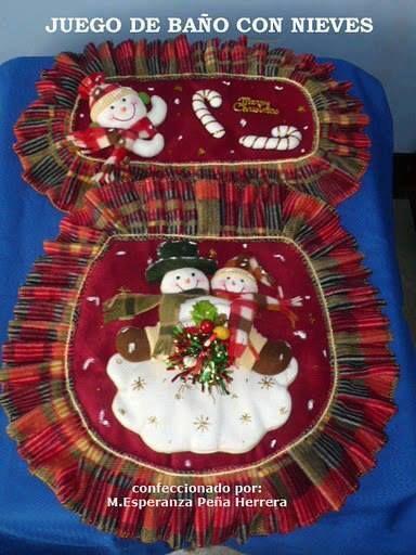 Baño Navideno Navidad:Juego de baño navideño