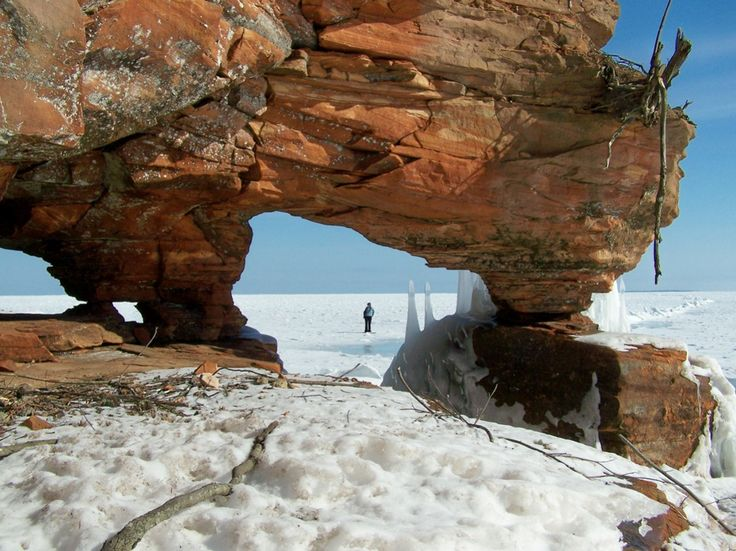 8 Perfect Parks for a Winter Workout >> Walk through ice caves at Apostle Islands National Lakeshore