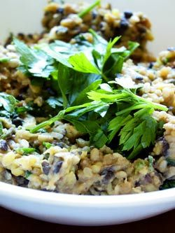 Herbed Lentils with Bacon (lentils, bacon, shallots, garlic, rosemary ...
