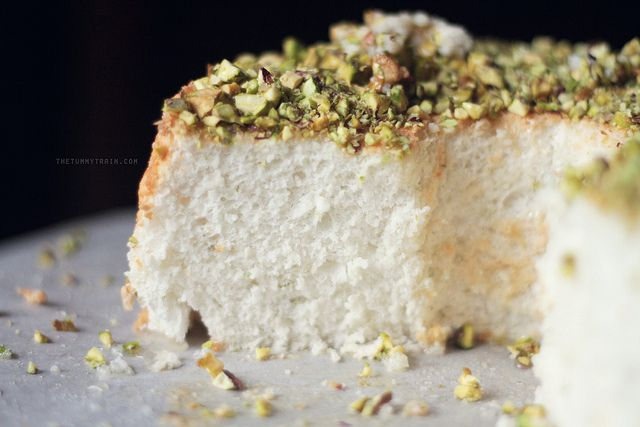 Lime Angel Food Cake With Lime Glaze And Pistachios Recipe ...