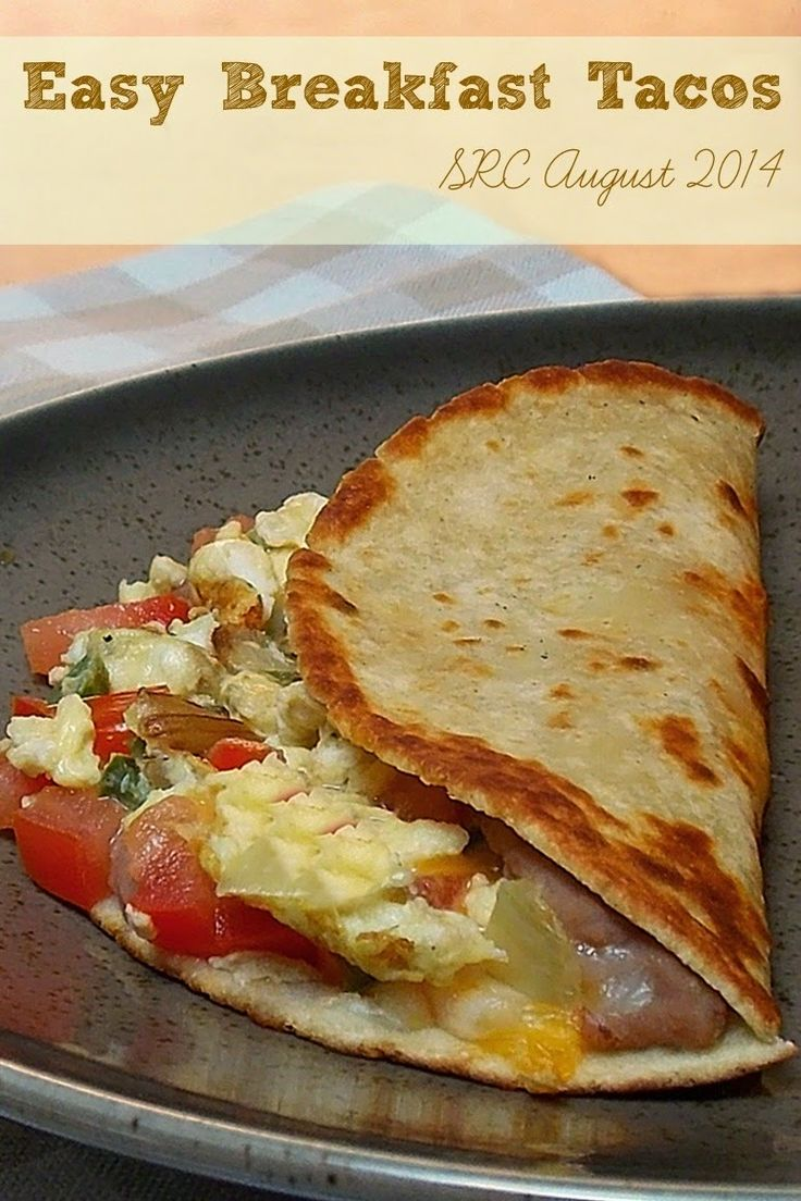 Easy Breakfast Taco #mexican #breakfast #eggs