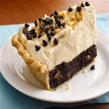 Mile-High Peanut Butter-Brownie Pie | Recipe