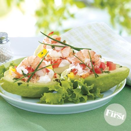 Seafood-Stuffed Avocados   Food / Culinária   Pinterest