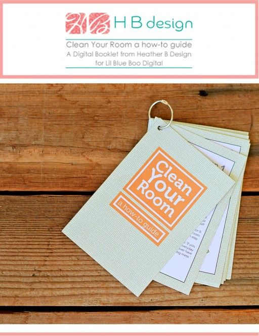 Help kids to clean their room with this how-to guide printable by HB Design