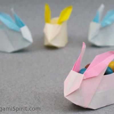 bunny origami for Easter treats