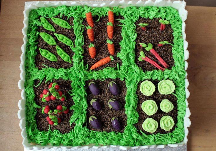 Vegetable garden cake birthday cakes pinterest for Vegetable garden cake ideas
