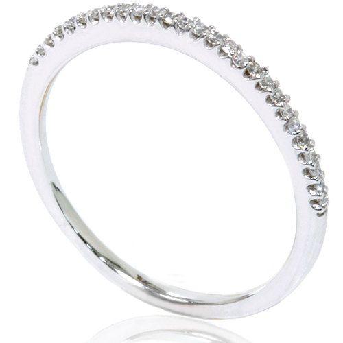 Diamond Wedding Ring Anniversary Thin Pave Band 15CT White Gold Size 4 9