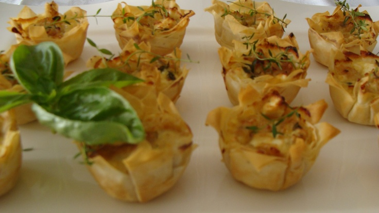 Caramelized Onion and Feta Tartlets | appetizers & snacks | Pinterest