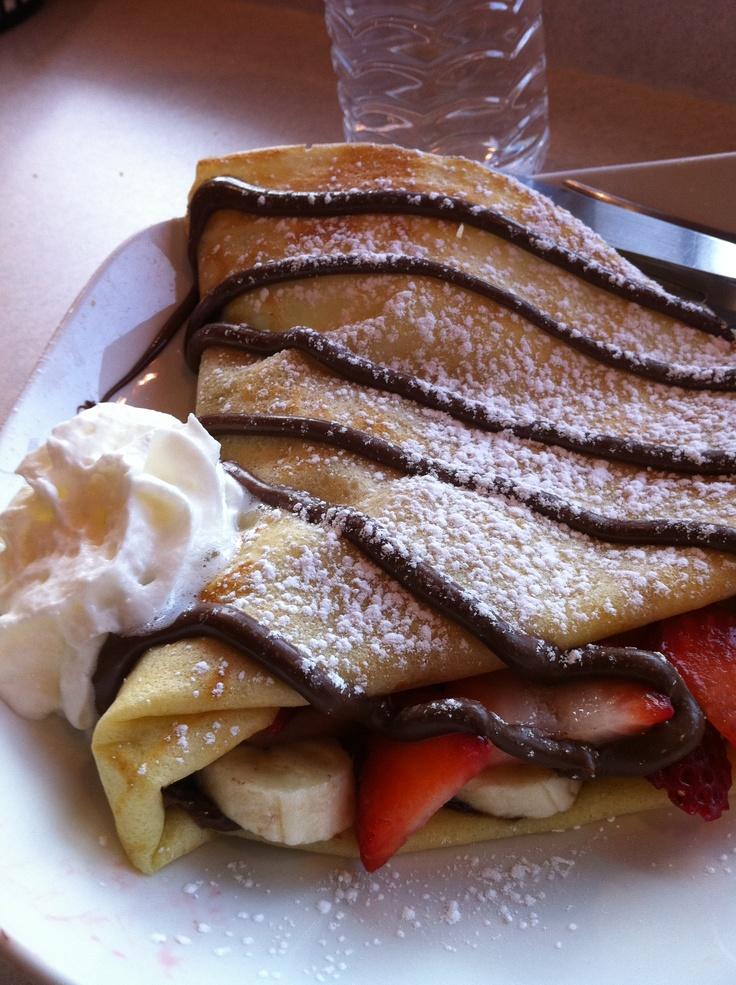 Strawberry-Banana-Nutella Crepes