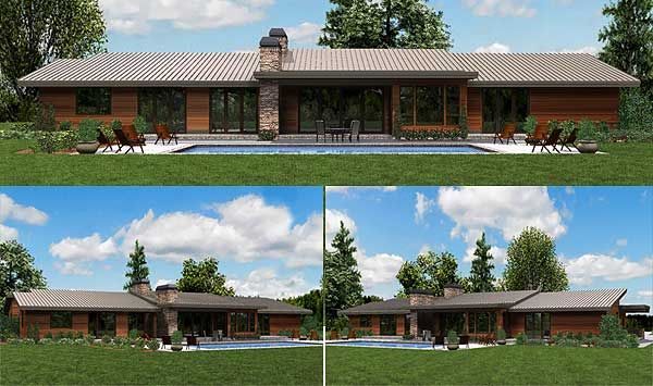 Like the look of this contemporary ranch home ideas for Contemporary ranch style house plans