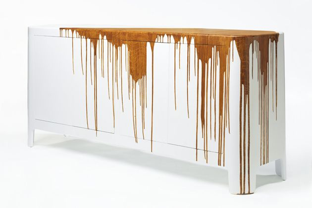 Damien Gernay's Dripping Wood Sideboard