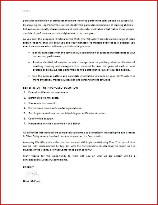 sales proposal letter template   datariouruguay