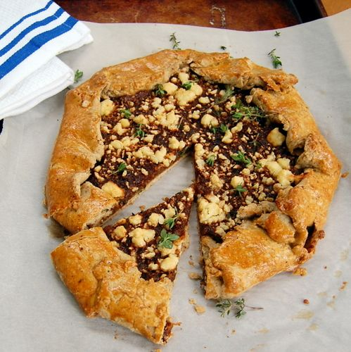 Rustic Sweet Onion Tart by It's Not Easy Eating Green