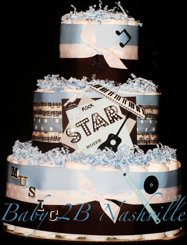Rock N Roll Diaper Cake. $78.00, via Etsy. Freaking awesome!!