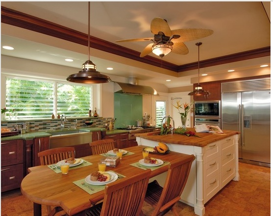Kitchen table island combo kitchen ideas pinterest for Table in kitchen designs