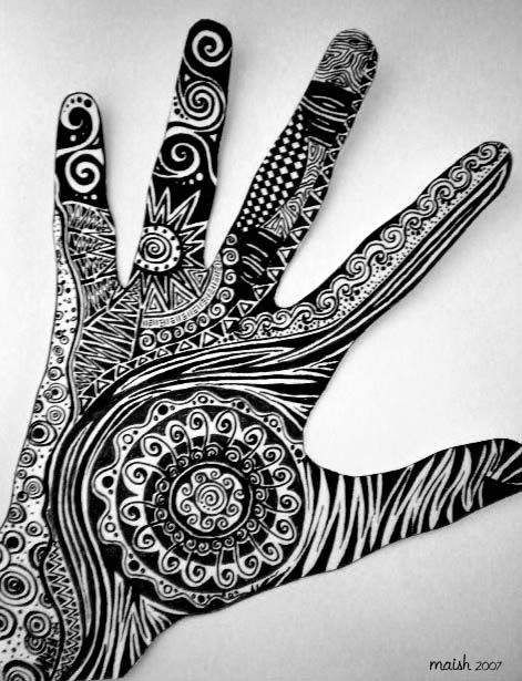"fuckyeahpsychedelics:  ""Hand Art"" by yelorose"