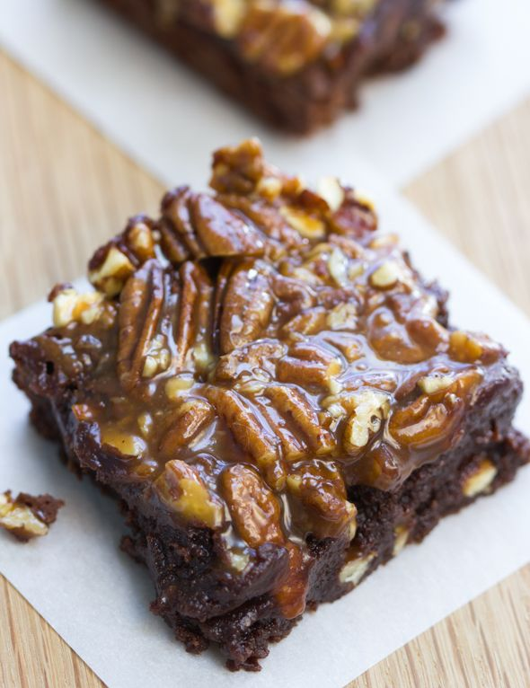 Turtle Brownies~Caramel Pecan Brownies. YUM! You could also use a ...