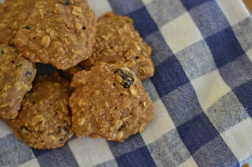 "Spiced Oatmeal Raisin Cookies - the ""better for you"" kind from Trai..."