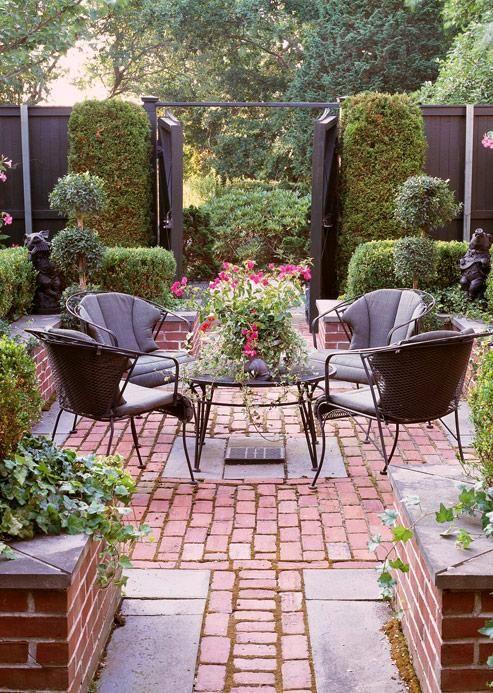 Paved #garden #backyard