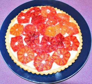 Fresh Blood Orange and Greek Yogurt Tart | yum! | Pinterest