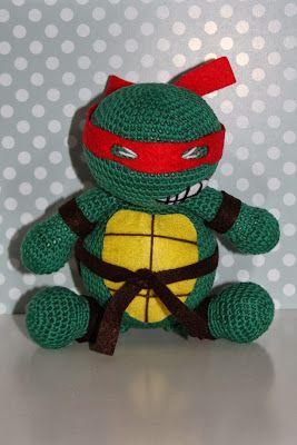 Amigurumi Tortuga Ninja Paso A Paso : tortuga ninja, amigurumi, crochet Mis Guinos de lana ...