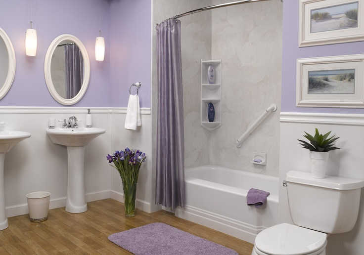 Pin by katie boggs on for the home pinterest for Lavender bathroom decor