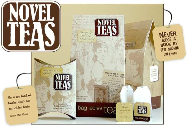 Novel Teas (book quotes on tags)
