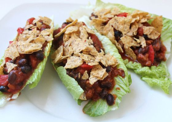 taco salad lettuce wraps | meal ideas | Pinterest