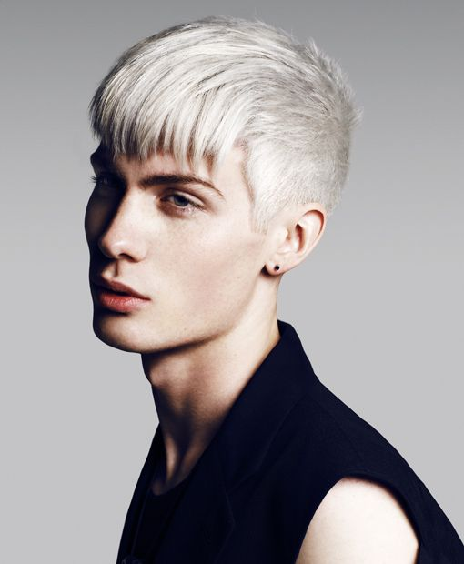 Blonde hair male model