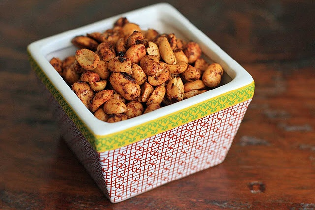 Mexican chile and lime peanuts. baby shower fiesta snack