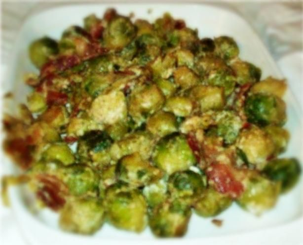 Creamy Brussels Sprouts With Bacon. Photo by Glutton