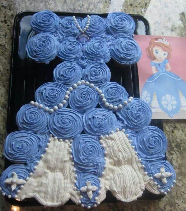 Princess Cupcake Cake Images : Princess dress cupcakes Sweet stuff Pinterest