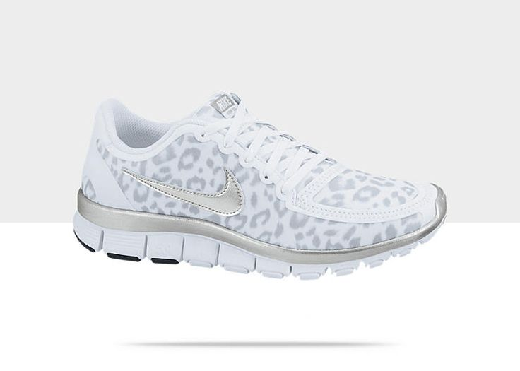 Leopard Print Running Shoe Grey