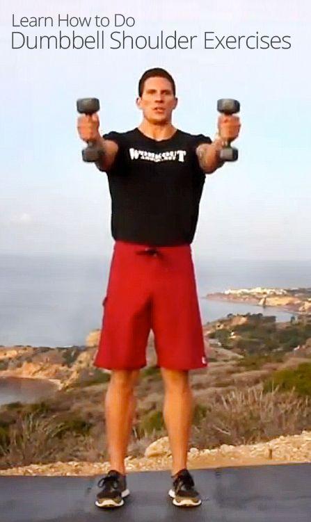 Dumbbell Shoulder Exercises | Workout | Pinterest