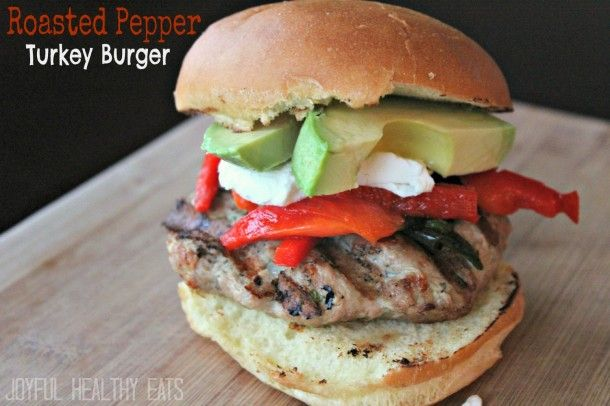 Roasted Pepper Turkey Burgers | Recipe