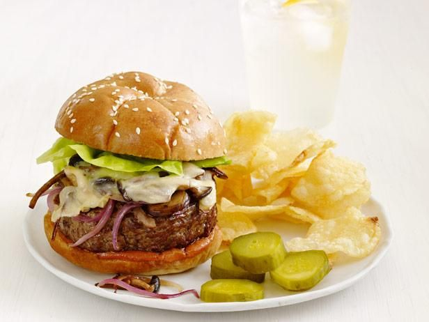 Recipe of the Day: Quick Swiss and Mushroom Burgers          Earthy sauteed mushrooms and onions, plus gooey Swiss cheese, add next-level flavor finishes to a beefy burger from #FNMag.           #RecipeOfTheDay