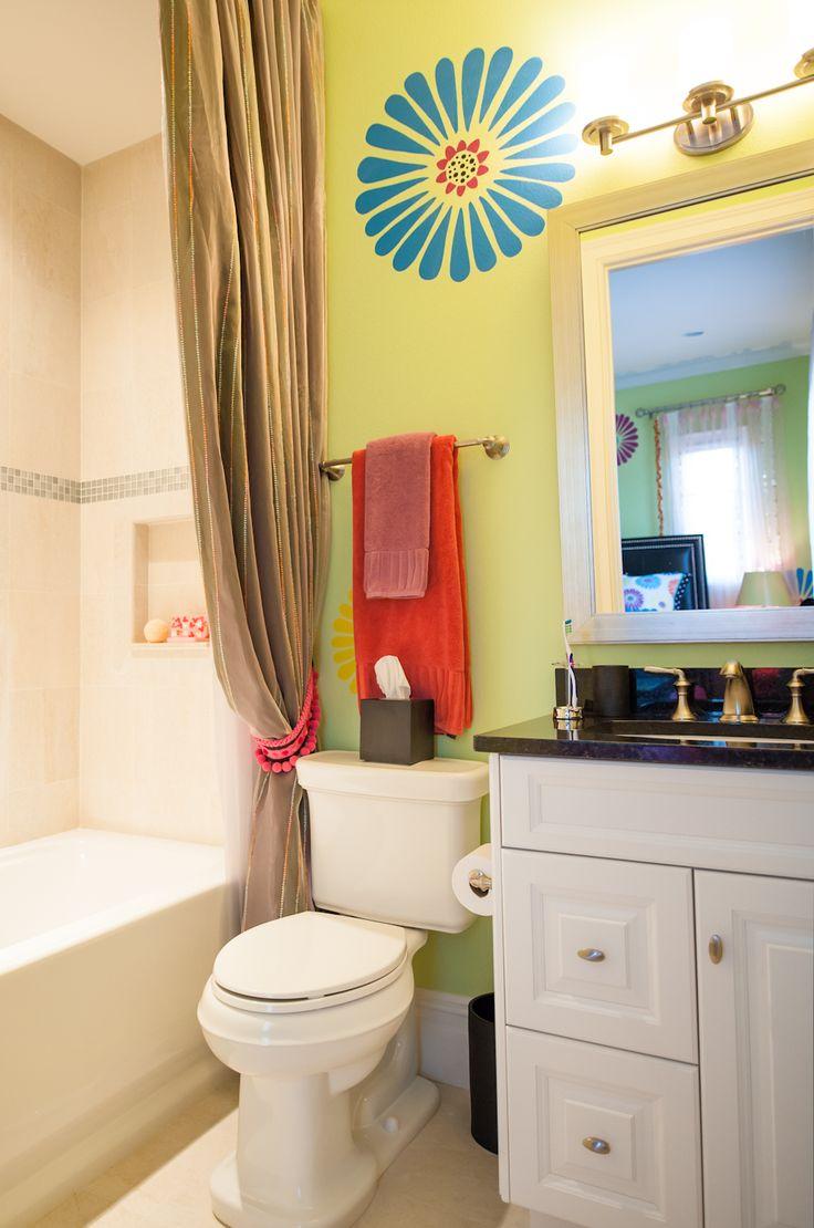 43 - Teenage Girl's Bathroom | Teen Girl Bathroom Ideas | Pinterest