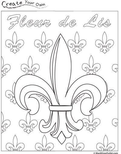 fleur de lis coloring pages - photo#34