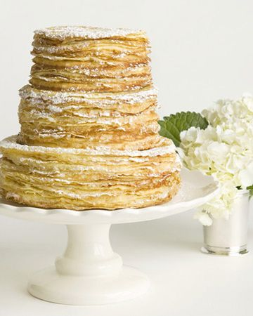tiered crepe cake by Charleston Crepe Company
