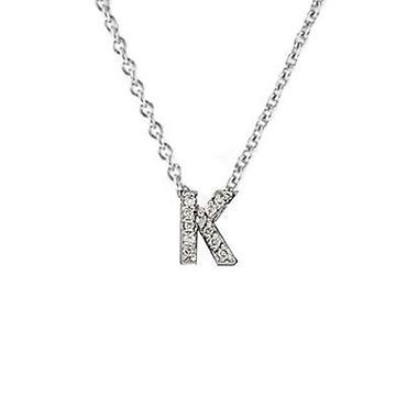roberto coin tiny treasures diamond k love letter pendant 1 20ctw