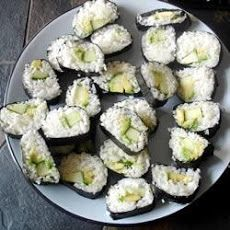 Cucumber and Avocado Sushi | Dinners | Pinterest