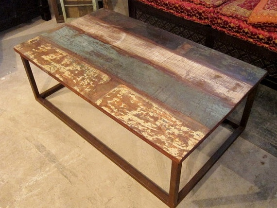Rustic wood and iron coffee table decorations ideas pinterest Rustic iron coffee table