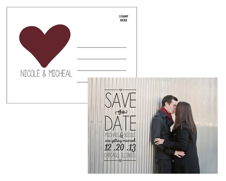 Save The Date Postcard Template by KassieAnastopoulos on Etsy, $10.00