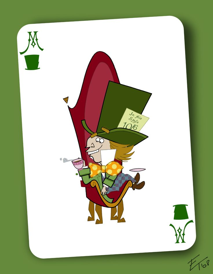 mad hatter 10/6 card printable